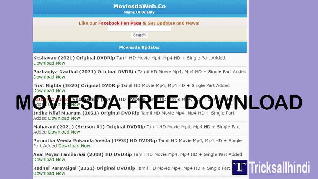 Moviesda Tamil Movies Download